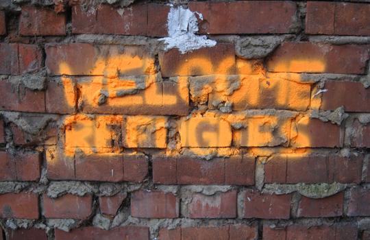 Welcome Refugees © Initiative Echte Soziale Marktwirtschaft (IESM)_pixelio.de