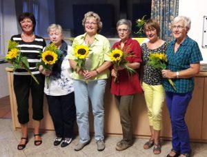 von links nach rechts: Elisabeth Bungartz, Roswitha Adamy, Petra Franken, Regina Wollschläger, Elisabeth Becker, Christel Monschau. Agnes Patt ist auf dem Foto urlaubsabwesend.