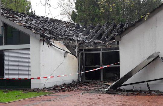 Brand im Familienzentrum St. Martinus in Niederpleis