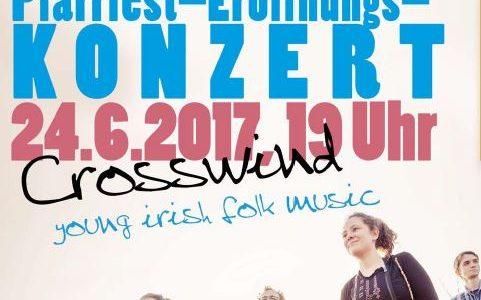 Crosswind-Konzert zur Eröffnung des Pfarrfests in Hangelar