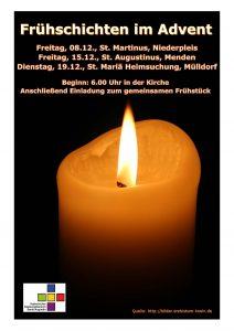 Frühschichten im Advent @ Kirche St. Augustinus | Sankt Augustin | Nordrhein-Westfalen | Deutschland