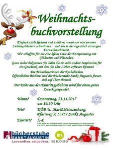 Weihnachtsbuchvorstellung KÖB @ KÖB St. Mariä Heimsuchung   Sankt Augustin   Nordrhein-Westfalen   Deutschland