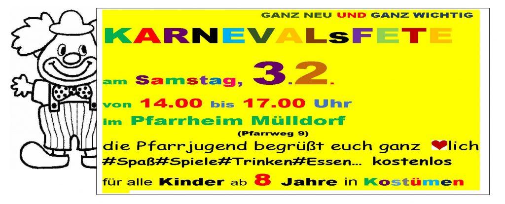 Karnevalsfete Pfarrjugend Mülldorf @ Pfarrheim St. Mariä Heimsuchung | Sankt Augustin | Nordrhein-Westfalen | Deutschland