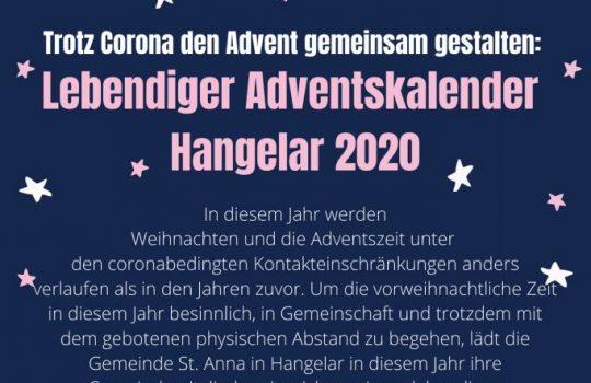 Lebendiger Adventskalender Hangelar 2020
