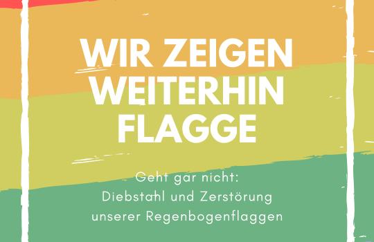 Erneuter Diebstahl von Regenbogenflaggen