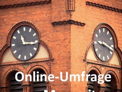 Online-Umfrage zu den Messzeiten am Wochenende