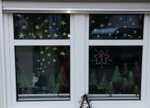 Meindorfer Adventsfenster 01 - Sternklare Nacht